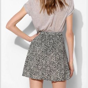 {urban outfitters} black and white floral skirt